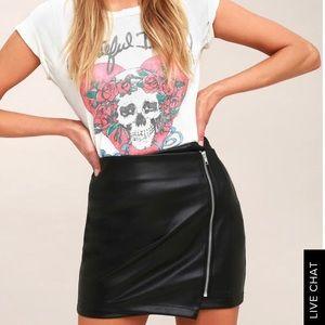 Tough stuff black vegan leather mini skirt